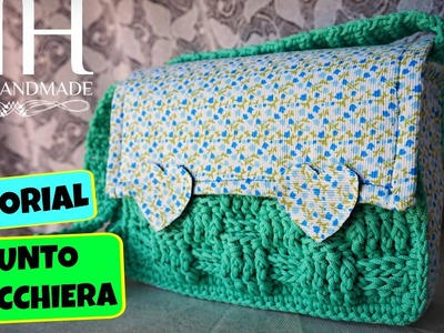 Tutorial punto scacchiera.cestino | Basketweave stitch || Katy Handmade