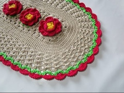 Uncinetto Crochet Centrino Fiore Rosa Tutorial