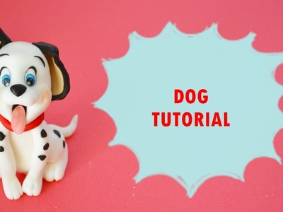 How to make dalmatian dog cake topper fondant - tutorial carica dei 101 torta pasta di zucchero