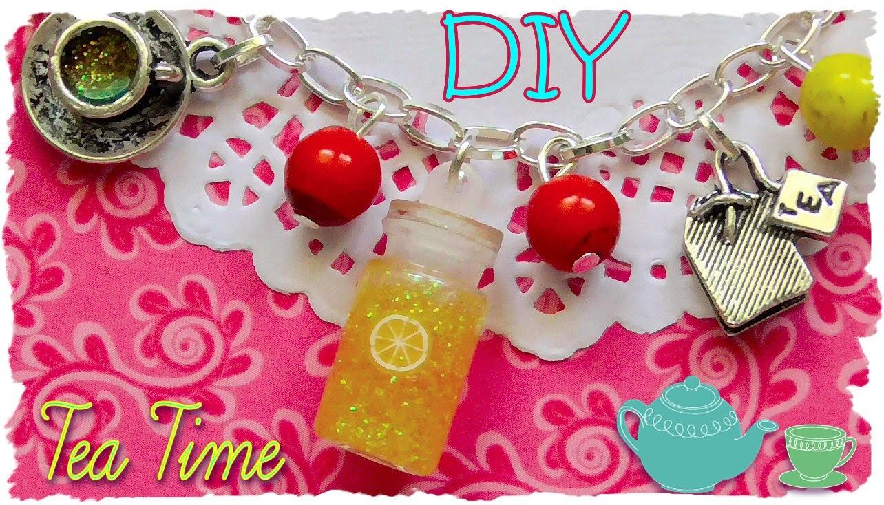 "Tutorial: Bracciale ""Tea Time"" con boccetta in vetro | DIY How To Make a Bracelet ""Tea Time"""