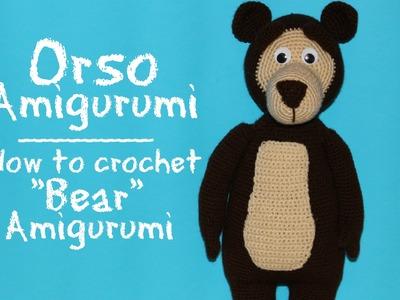 "Orso di ""Masha e Orso"" Amigurumi | How to crochet Bear Amigurumi"