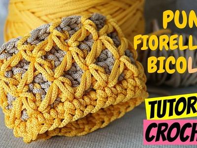 Punto fiorellini (o thai) bicolore uncinetto | Tutorial crochet || Katy Handmade