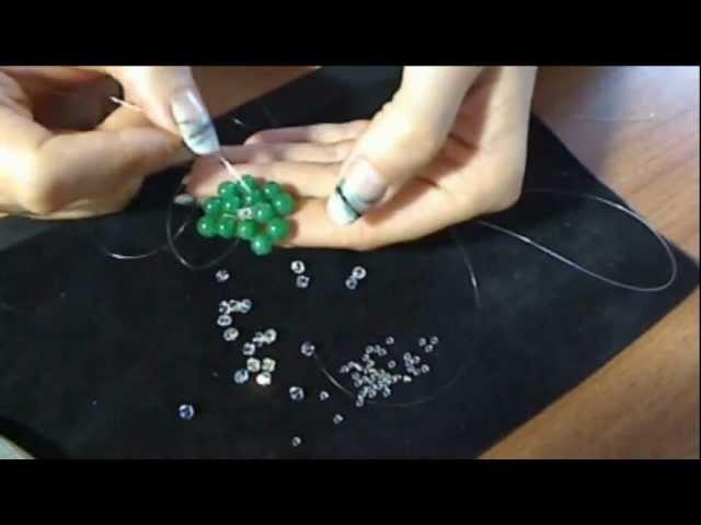 DIY tutorial anello. ciondolo a fiore perle e swarovski 1°parte