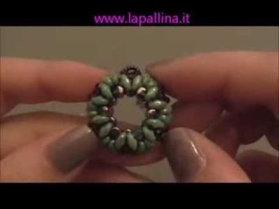 """- DIY- Tutorial Ciondolo """"Ghirlanda"""" con rulla beads"""