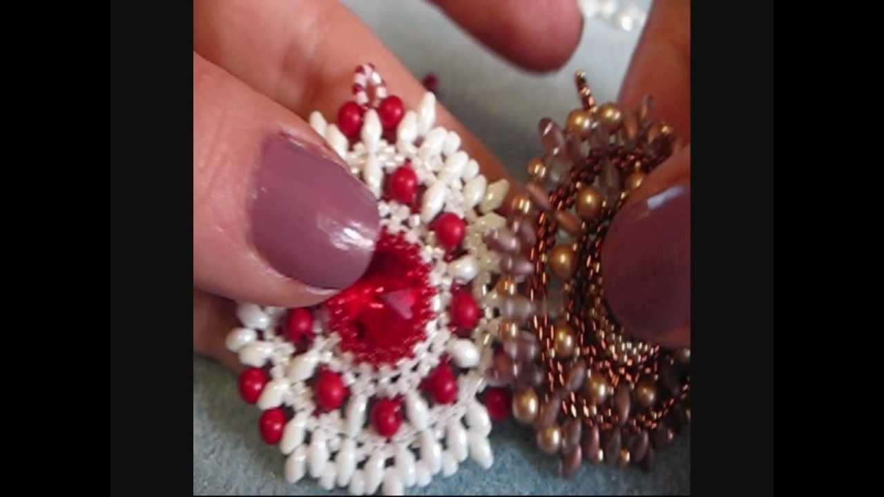 DIY Tutorial Ciondolo Nike - Superduo. Twin beads pendent