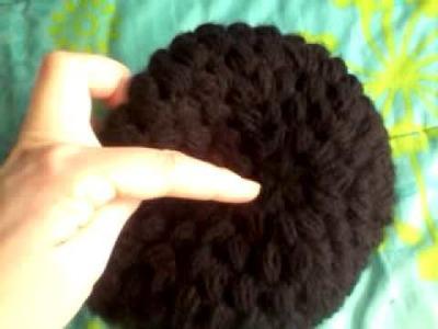 Gorro crochet punto puff