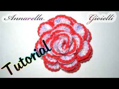 Tutorial rosa all'uncinetto | How to crochet a rose