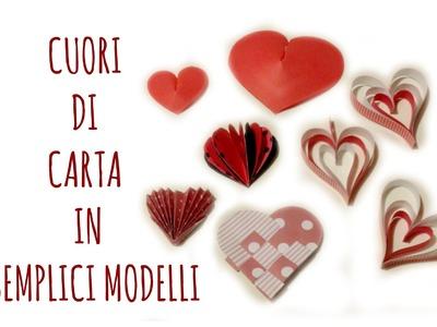 Cuori di carta:5 modi per farli. how to make paper hearts(San Valentino.Scrapbooking) Arte per Te