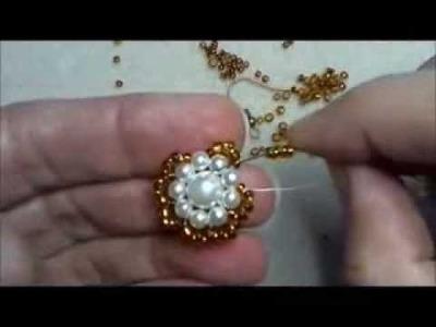 DIY Tutorial Orecchini La Perla ramata di perle e perline: modello base