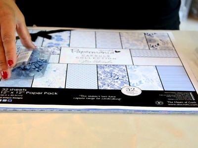Presentazione Kit Scrapbooking Elegant Blue Paper Mania