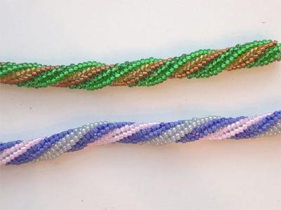 Tutorial spirale Herringbone - Tutorial Bracciale con perline - Bracciale facile fai da te 3.3