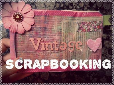 ♥.Album Vintage: Mecanismo de cascada (Scrapbook).♥