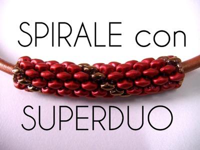 Perline Superduo - Tecnica Spirale