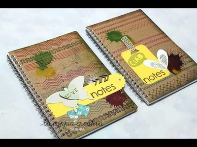 Decorazione Block notes Valbekant Ikea- Notes Fai da te-Scrapbooking Tutorial