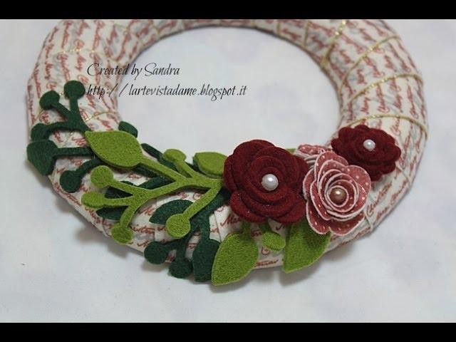 Ghirlanda natalizia fai da te tutorial christmas wreath - Ghirlanda natalizia per porta fai da te ...