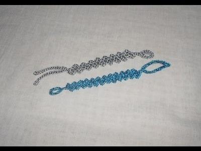 Braccialetto a Zig Zag Uncinetto crochet bracelet ganchillo pulsera