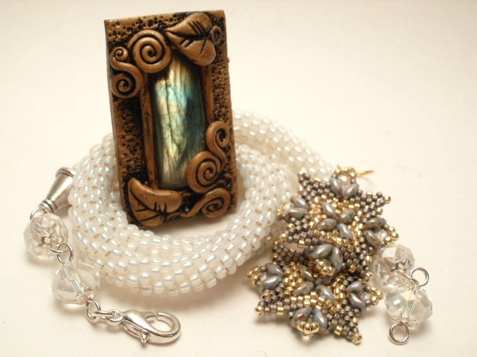 Nuove creazioni Crochet da sposa e ciondoli in fimo | Bridal jewelry and polymerclay pendant
