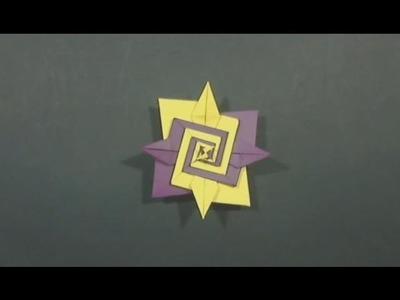 Origami Spiral by Tomoko Fuse - Yakomoga Origami tutorial