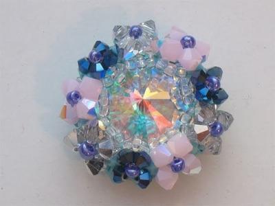 Sarubbest - Tutorial perline Swarovski: come incastonare un cabochon con cristalli bicono 1.2