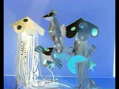 Meduse di carta danzanti paper creativity