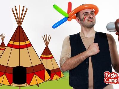 Palloncini Modellabili - Costume Indiano - Balloon Indian Hat - Tutorial 78 - Feste Compleanni