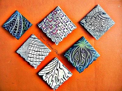 Come fare segnalibri origami in zentangle