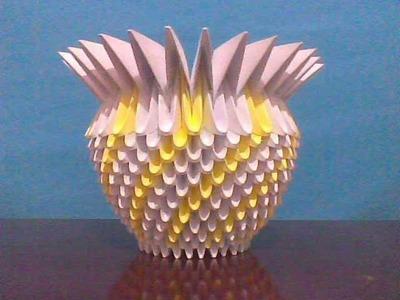 Origami 3D Vaso Cachepot Bico