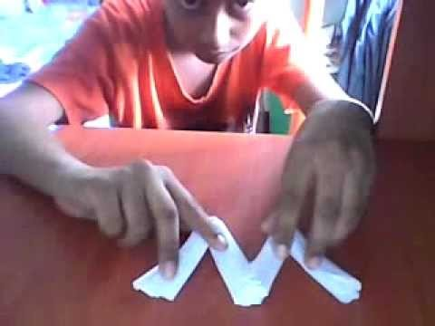 Origami letter ''M''