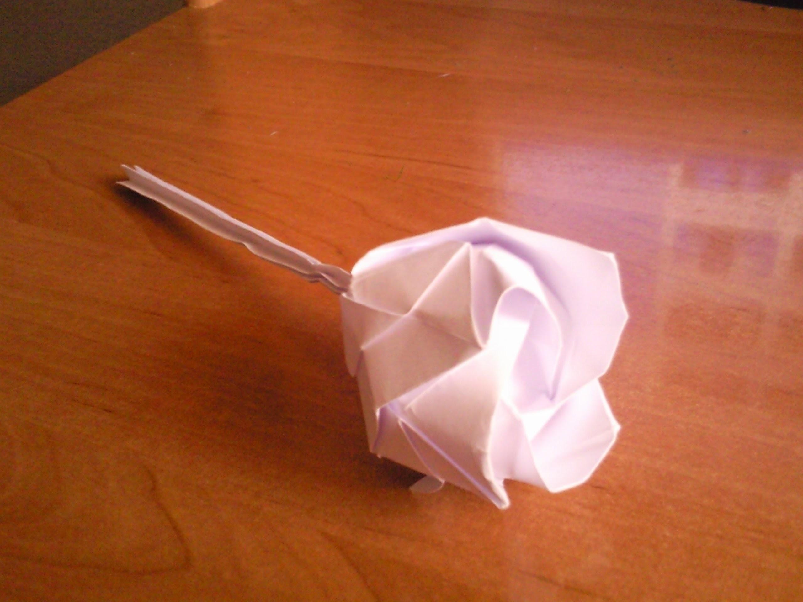 Origami Rózsa (Rose) Tutorial - photo#9