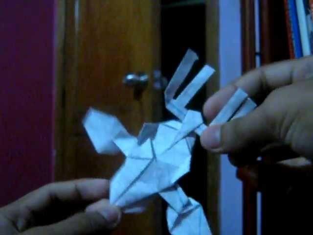 Tutorial origami kyogre