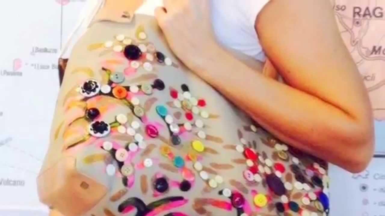 Come decorare una borsa con dei bottoni -Tutorial by Diana Toto