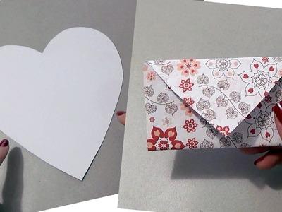 TUTORIAL: come fare una BUSTA DA UN CUORE (San Valentino - DIY)