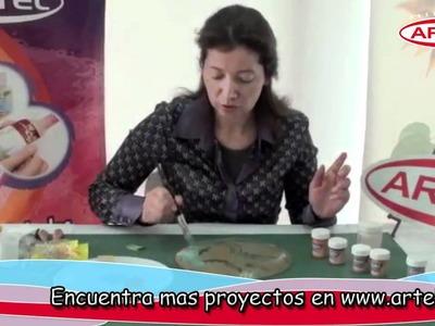 Pintura acrilica decorativa Maria Eugenia Mondiglio