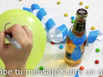 Regala una botella con corbata