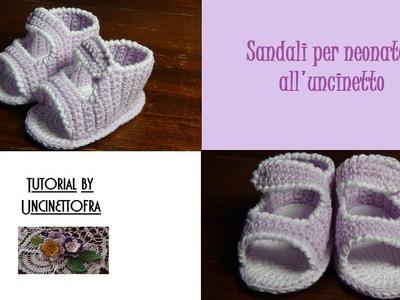 Sandali per neonato all'uncinetto tutorial
