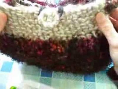 Borse di lana all'uncinetto.