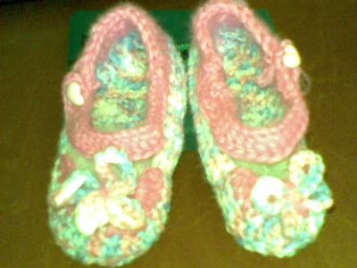 Scarpetta bimba (baby shoe ) parte 3