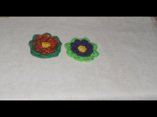 Uncinetto Crochet Fiore Bicchierini - Crochet flower ganchillo flor