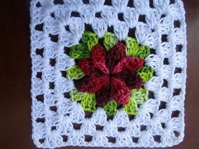 Uncinetto Crochet Square Fiore Girandola