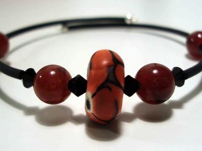 Tutorial Bracciale semirigido con caucciù (bijoux tutorial)