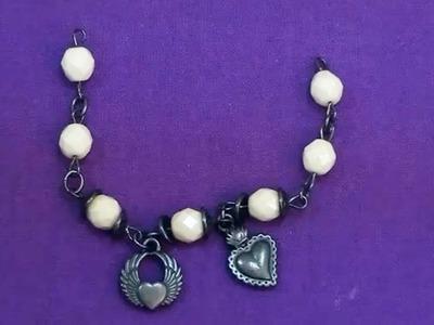Tutorial braccialetto: bracciale Gunmetal | Perline per Principianti - HobbyPerline.com