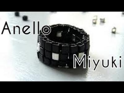 Tutorial Perline - Anello con cubi Miyuki