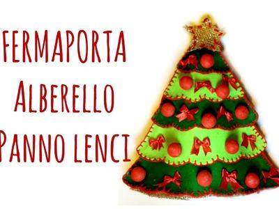 Alberello di Natale Fermaporta in Pannolenci (Cucito Creativo.Natale) Arte per Te