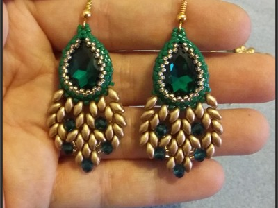Orecchini Pavone - Tutorial Peacock earrings