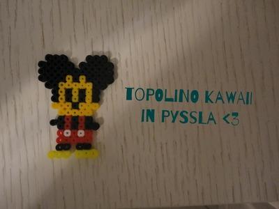 Topolino in Pyssla. Hama Beads