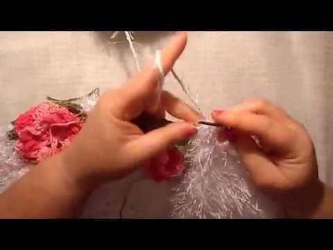 Uncinetto fiore monique tappeto cuore 6° parte Alfombra ganchillo croche tapete Coraçao