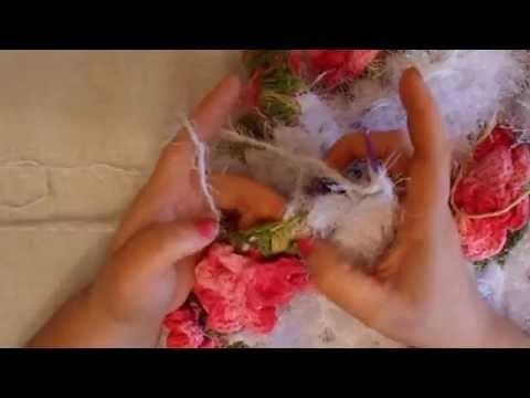 Uncinetto fiore monique tappeto cuore 7° parte Alfombra ganchillo croche tapete Coraçao