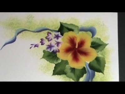 "One Stroke Painting ""L'Hibiscus"" di Marzia Di Somma"