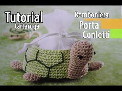 Tutorial bomboniere Cestino Tartaruga Uncinetto (Crochet) 6.6