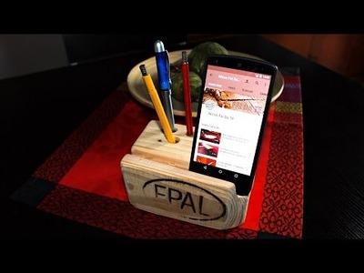Costruire un Portapenne e supporto Smartphone da scrivania Fai Da Te  DIY